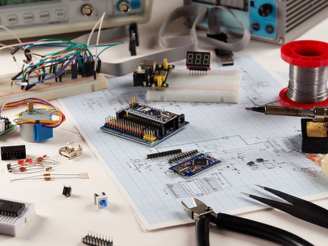 Electronics and microprocessor.Electroni