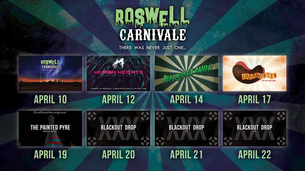 Roswell Carnivale's Content Calendar