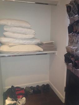 Master Closet Reorganziation BEFORE #2