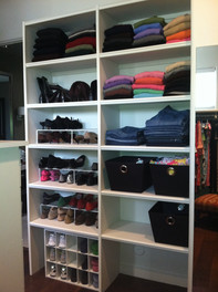 Master Closet Reorganziation AFTER #1