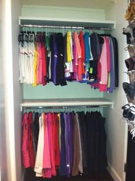 Master Closet Reorganziation AFTER #2