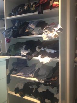 Master Closet Reorganziation BEFORE #1