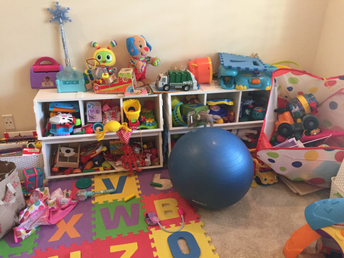 Playroom makeover BEFORE #2