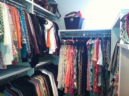 Master Closet Reorganziation AFTER #4