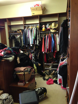 Master Closet Move In BEFORE #1