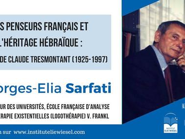 Conférences au Centre Elie Wiesel - 13 novembre / 12 décembre 2018 - Paris