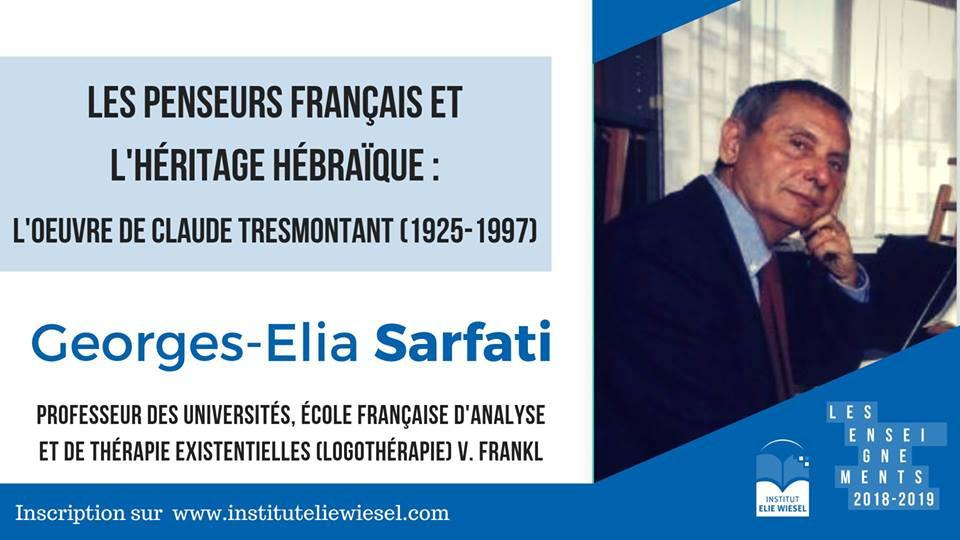 Les penseurs français et l'héritage hébraïque : l'oeuvre de Claude Tresmontant