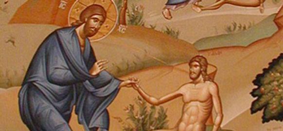 Peinture de la creation adam eve