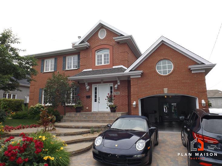 plan de maison 2 etages avec garage