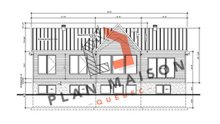plan maison moderne étage