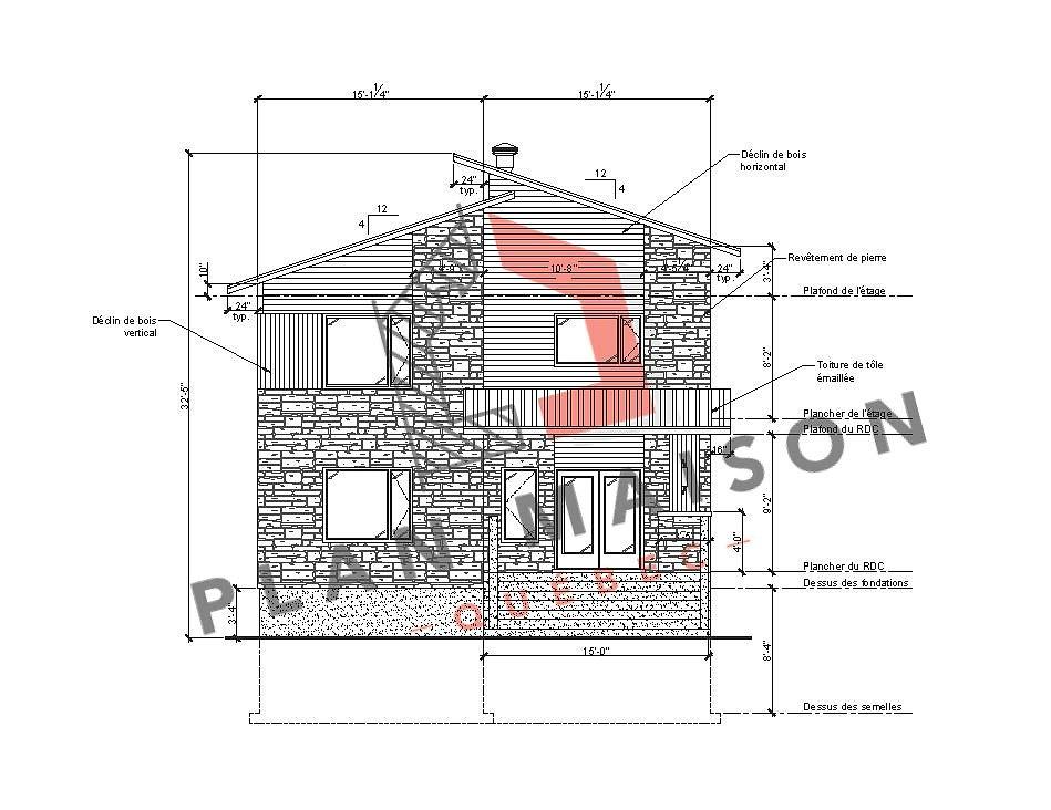 plan maison moderne