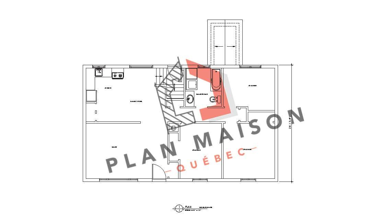 modele maison en L