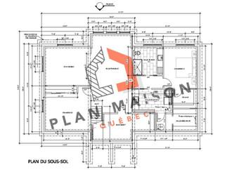 plan maison moderne etage
