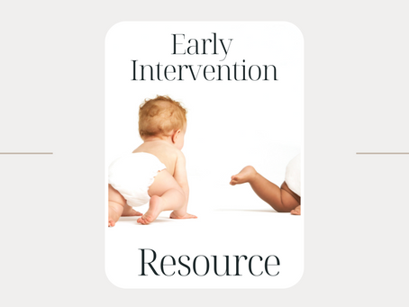 New Organizational Tool! Early Intervention Quick Notes.