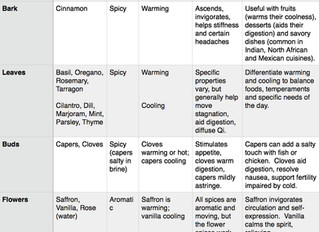 The Energetics of Kitchen Herbs & Spices