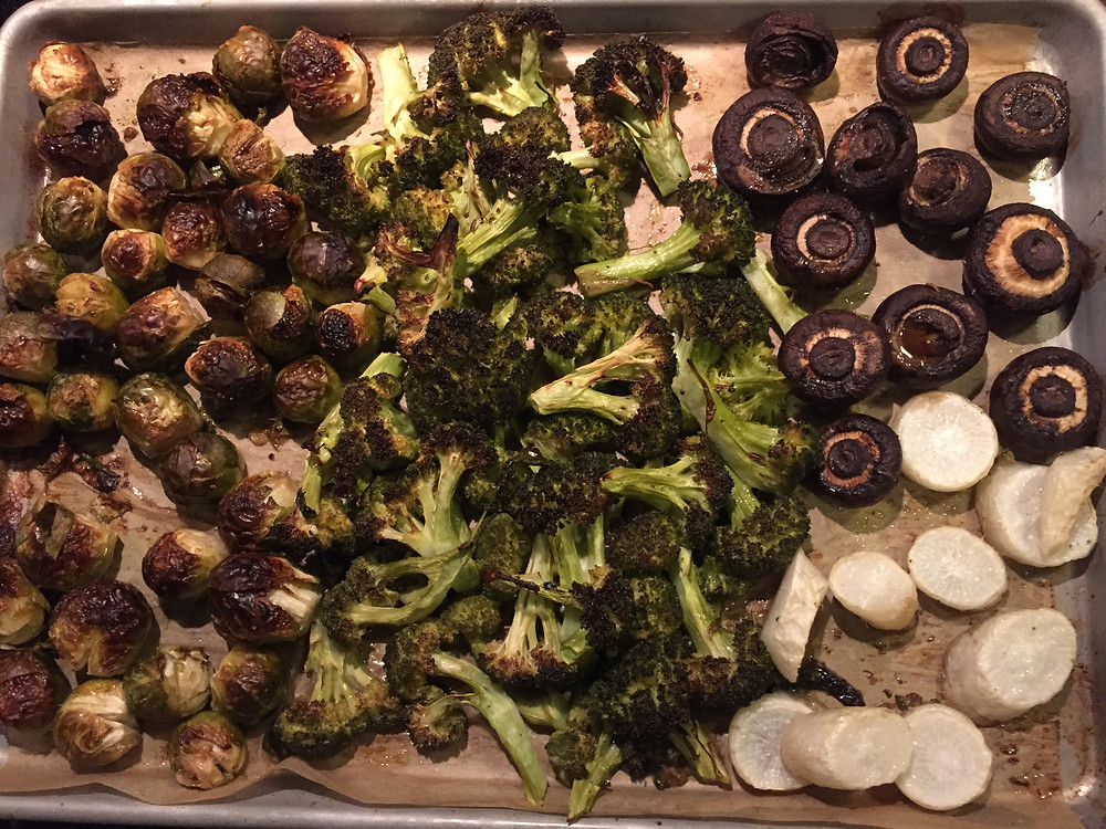 roast Brussels sprouts, etc.JPG
