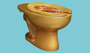18k Gold Toilet at the NY Guggenheim