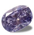 Natural deep purple diamond