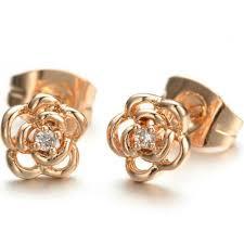 18k yellow gold & diamonds earrings