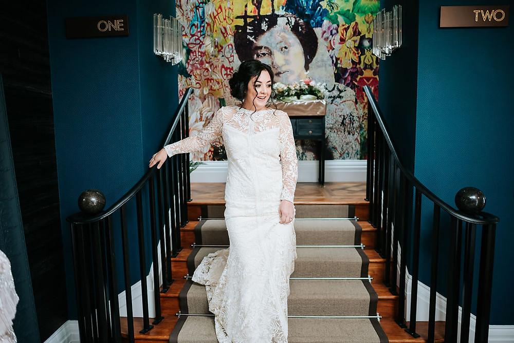 Modern Bride, Bridalwear, Yorkshire bride, wedding dress, lace dress, real bride, flower crown, boho bride, bridal flowers, wedding inspiration