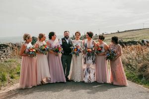 Bride, wedding dress, bride style, lace dress, yorkshire bride, yorkshire wedding, boho bride, bridesmaid dresses, bridal flowers, bridal party