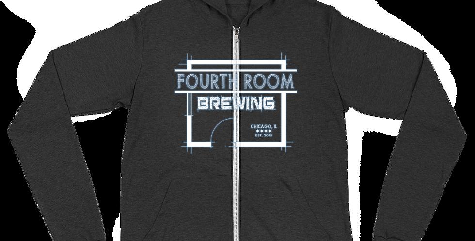 Fourth Room Brewing Logo Unisex zip hoodie