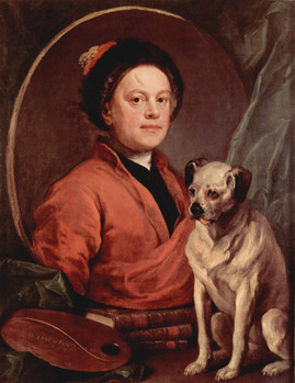 """Self Portrait With A Pug,"" William Hogarth, 1745 (Wikimedia Commons)"