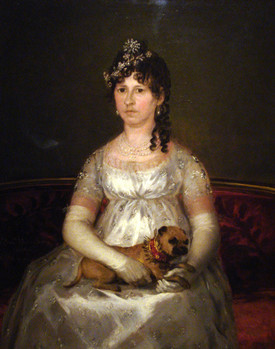 """Portrait of Francisca Vicenta Chollet y Caballero,"" Goya, 1806 (Wikimedia Commons)"