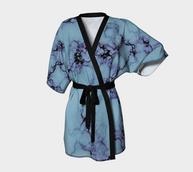 kimono bleu marble