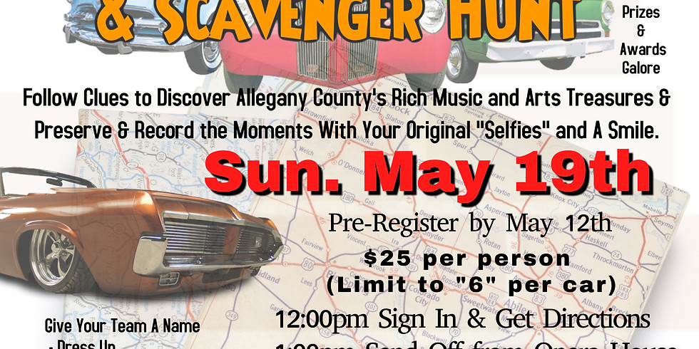 2nd Annual Road Rally Scavenger Hunt