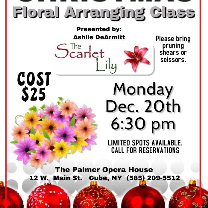 Christmas Floral Arranging Class