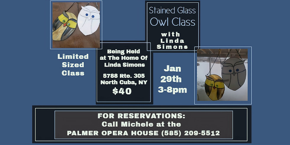 Stained Glass Owl Class