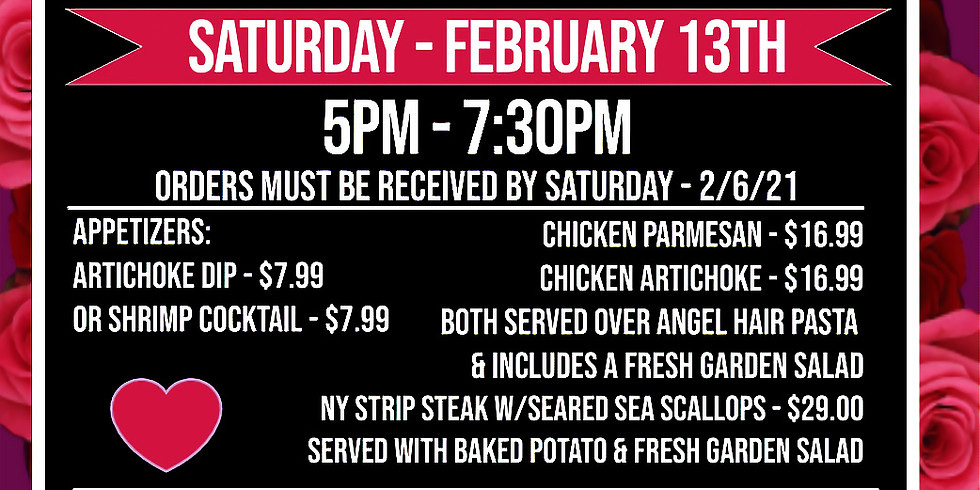 Take Out Valentine's Day Dinner