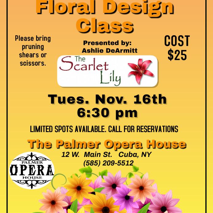 Fall Floral Design Class