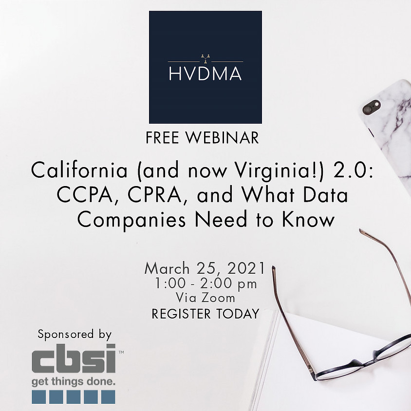 California (and now Virginia!) 2.0:  CCPA, CPRA, and What Data Companies Need to Know