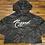 Thumbnail: Women's Black Camo Crop Top Hoodie