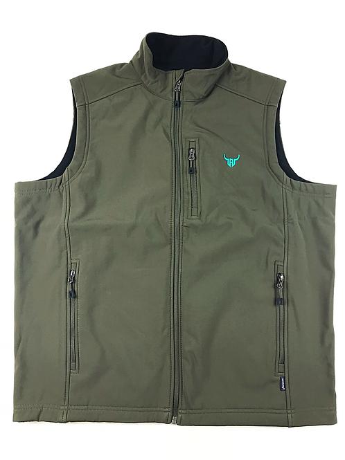 Dark Olive & Teal Branded Vest