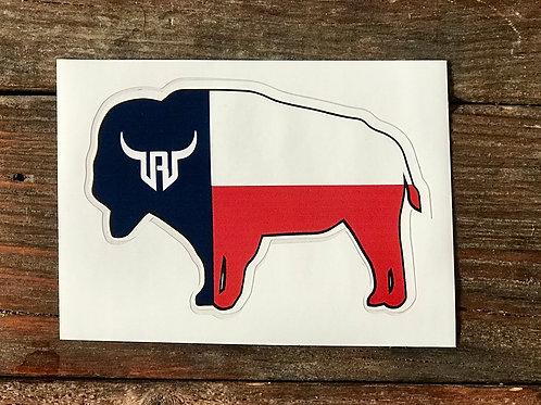 Texan Buffalo Sticker