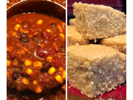 Snowed-in Chili & Corn Bread