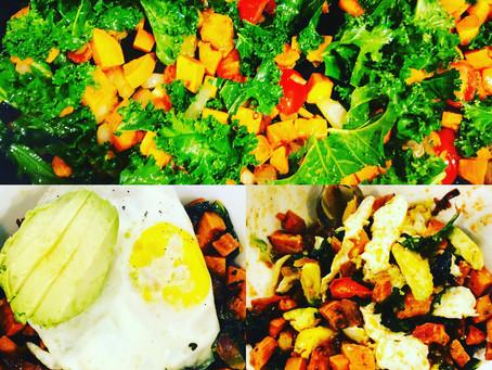Sweet Potato 🍠 Hash with egg 🍳, and avocado 🥑