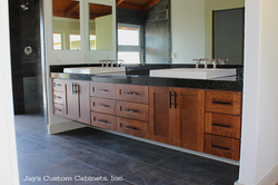 Shaker Style | Maple | Nutmeg Stain | Natural Stone