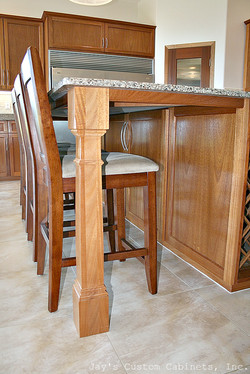 Winchester Style | African Mahogany | Clear Finish | Silestone Quartz
