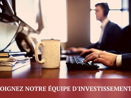 Opportunité de carrière - Analyste en investissement