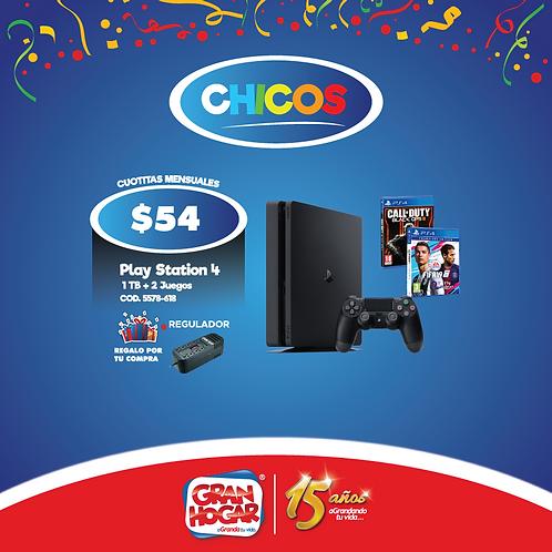 Play Station 4 Sony 1 Tb + 2 Juegos