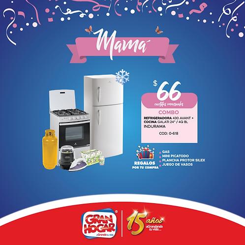 Combo Refrigeradora + Cocina