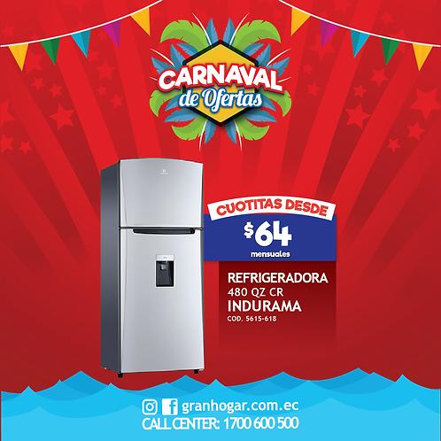Refrigeradora Indurama 480 Qz Cr