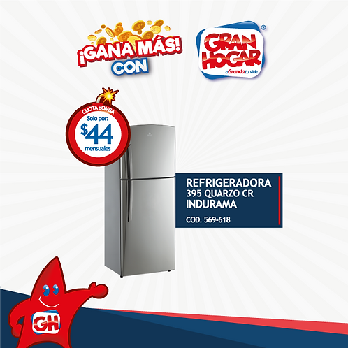 Refrigeradora 395 Indurama Quarzo CR