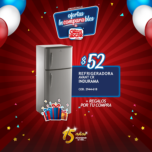 Refrigeradora Avant CR Indurama