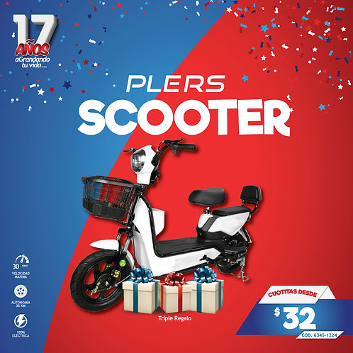 SCOOTER  ELECTRICA PEQUEÑA  BAT 5-8 HORAS 35 KM/HORA PLERS
