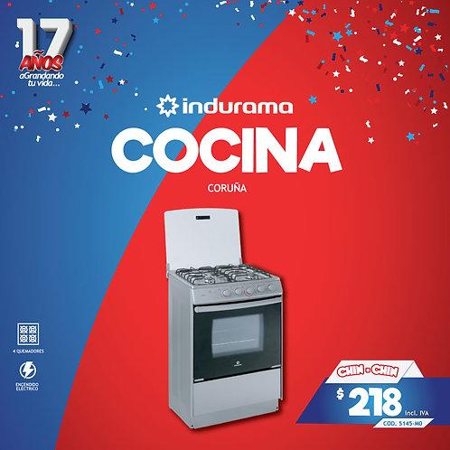 """COCINA CORUÑA  GAS 24""""/4Q CR INDURAMA"""